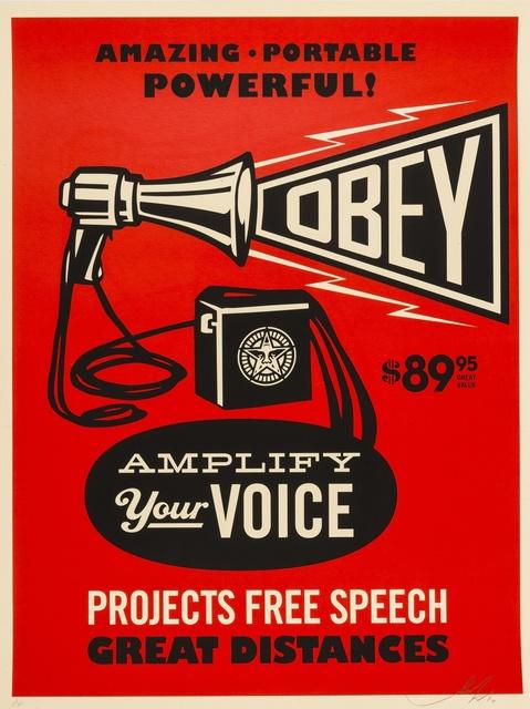 Shepard Fairey (OBEY), 'Obey Megaphone Print', 2010, Forum Auctions