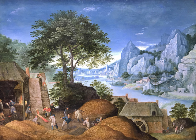 Martin Ryckaert, 'Mosan Landscape with Metal industry', 1610-1630, Painting, Oil on copper, Galerie Florence de Voldère