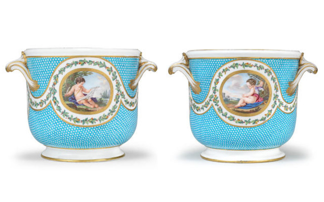 , 'Pair of bottle coolers from a service made for Madame du Barry (seaux à bouteille),' ca. 1770, Michele Beiny Inc.