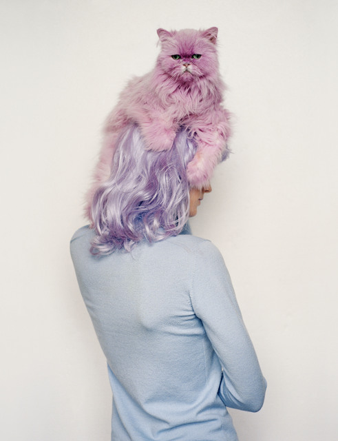 , 'Lisa Ratliffe with pink pastel cat, Eglingham, Northumberland,' 2000, Michael Hoppen Gallery