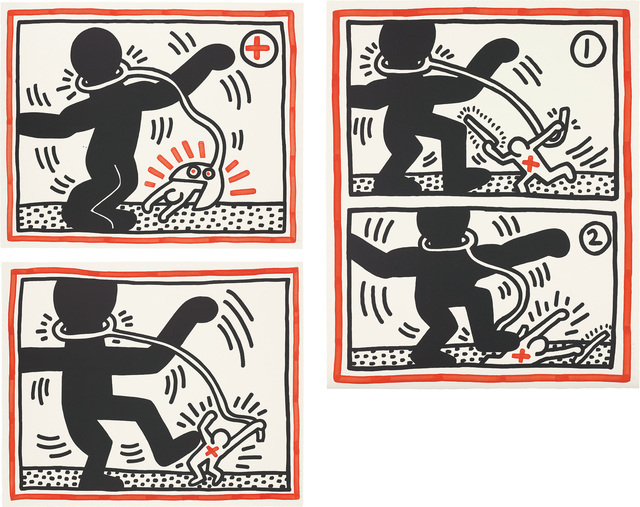 Keith Haring, 'Untitled (Free South Africa)', 1985, Phillips