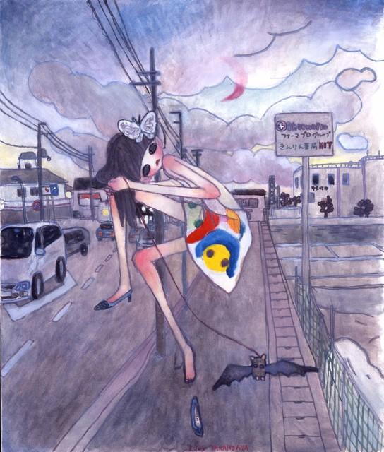 Aya Takano, 'A Night Walk - A Pink Moon Emerged *', Perrotin