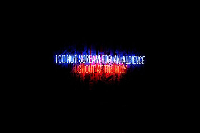 , 'I Do Not Scream for an Audience, I Shout at The Holy,' 2016, Celaya Brothers Gallery