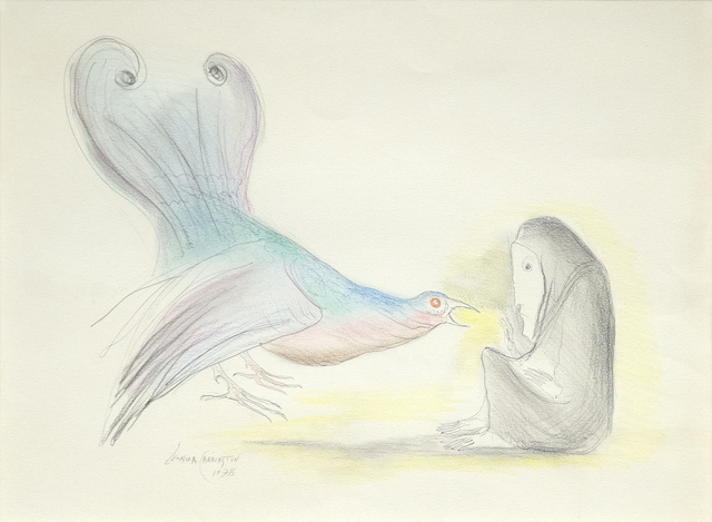 Leonora Carrington, 'Woman with Bird', 1978, Heather James Fine Art