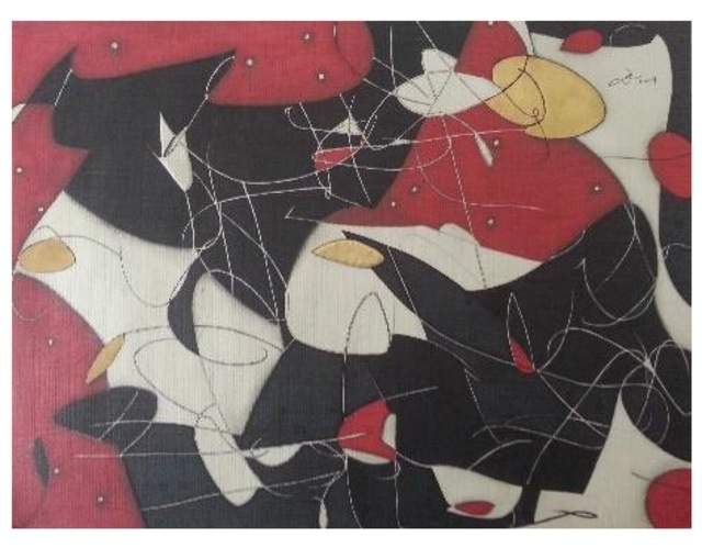Erik Cheung, 'Figure with raised arm ', 2019, Lotus Art Gallery