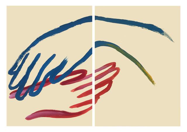 , 'Tes mains sont mes ailes,' 2018, Galerie Dumonteil