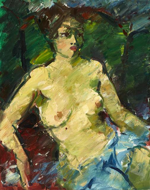Viktor Lederer, 'Sitzender Akt mit Tuch (Sitting Nude with Cloth)', 2006, Galerie Lehner