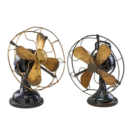 Antique Brass Bladed Fans