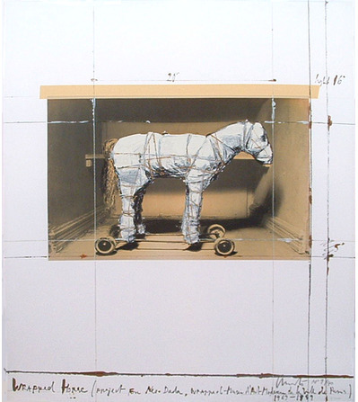 , 'Wrapped Horse (Project for Neo-Dada) ,' 1963, Sylvia White Gallery