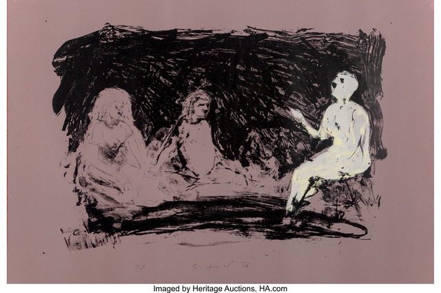 Eric Fischl, 'Annie, Gwen, Lilly, Pam and Tulip (Three Seated Women)', 1986, Heritage Auctions