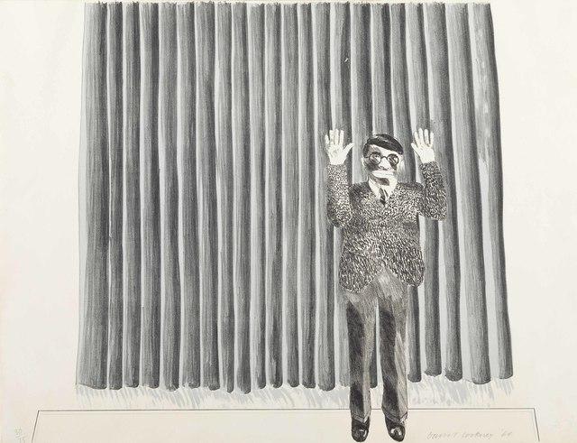 David Hockney, 'Figure by a Curtain', 1964, Christie's
