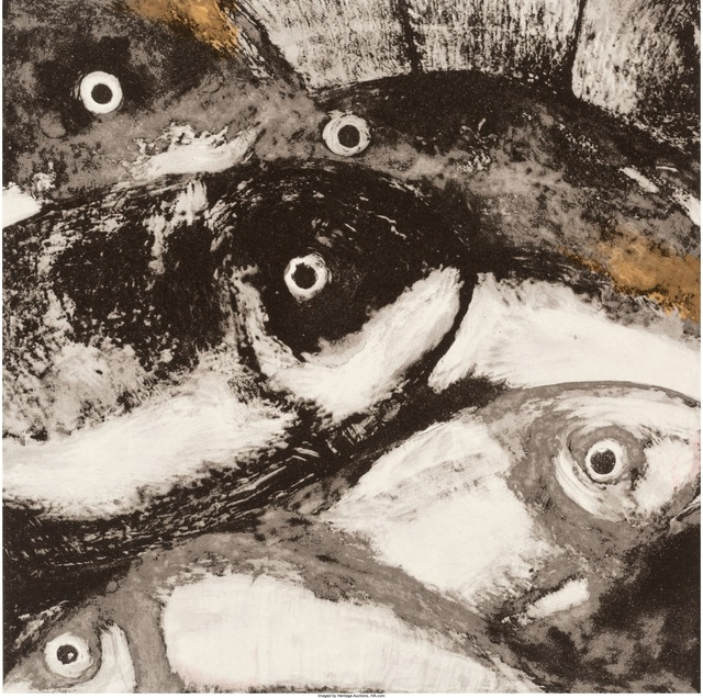 Donald Sultan, 'Fish, from Fruits and Flowers', 1990, Print, Screenprint in colors on wove paper, Heritage Auctions