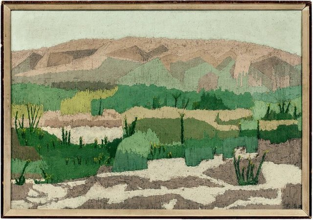 Raymond Mintz, 'Abstract Landscape 1954 American Modernist from Paul Rosenberg Gallery', Mid-20th Century, Lions Gallery