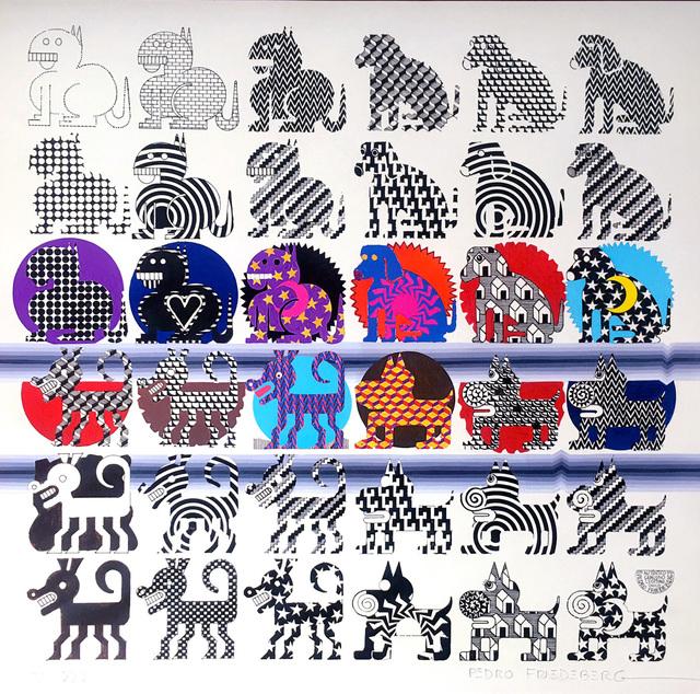 Pedro Friedeberg, '36 perritos, catálogo canino', 2016, Print, Silkscreen print, MAIA Contemporary