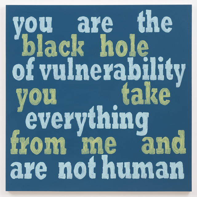 , 'You Are The Black Hole,' 2013, Roberts & Tilton