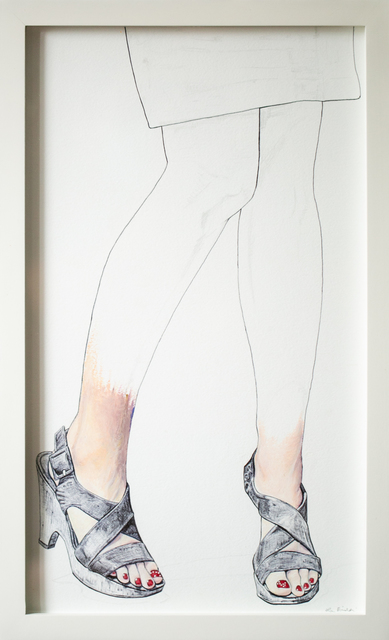 Lauren Rinaldi, 'Polished', 2020, Drawing, Collage or other Work on Paper, Oil pastel and ballpoint pen on Arches paper, Paradigm Gallery + Studio
