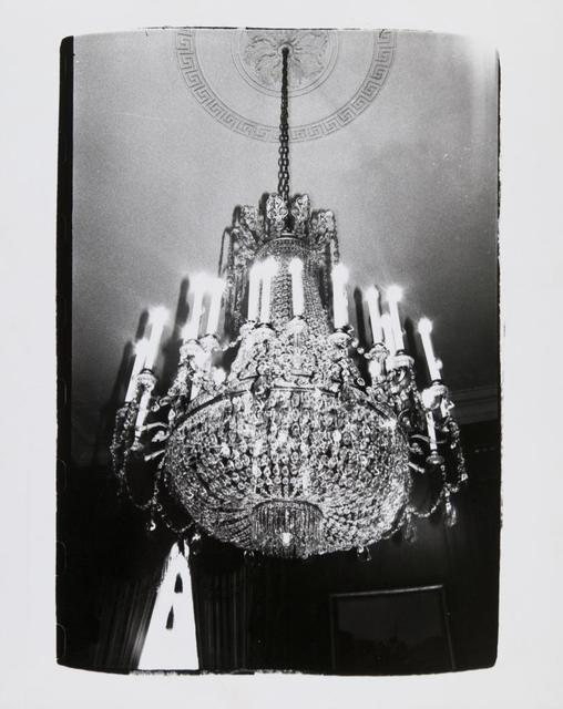 Andy Warhol, 'Andy Warhol, Photograph of a Chandelier in Paris, 1980', 1980, Hedges Projects