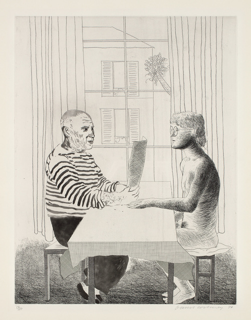 David Hockney, 'Artist and Model', 1973-74, Phillips