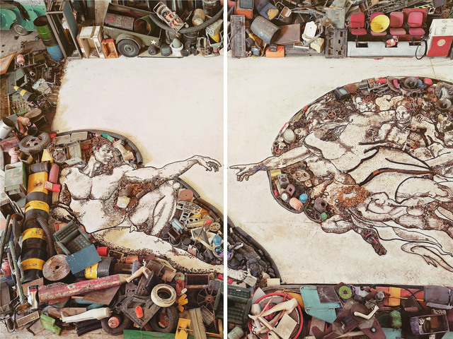 Vik Muniz, 'The Creation of Adam, After Michelangelo', 2011, Edwynn Houk Gallery