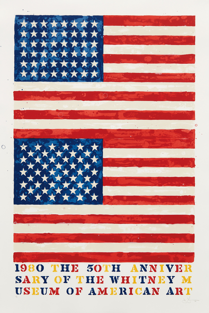 Jasper Johns, 'Two Flags (Whitney Anniversary)', 1980, Phillips