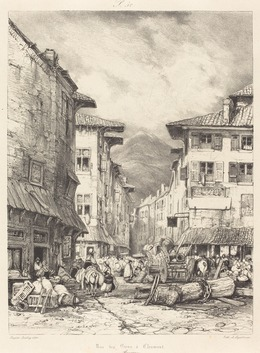 Eugène Isabey, 'Rue des Gras à Clermont', 1830, National Gallery of Art, Washington, D.C.
