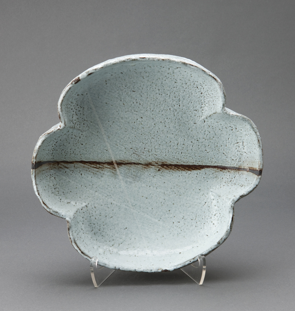 , 'Four leaf tray, nuka glaze with iron and wax brushwork,' , Pucker Gallery