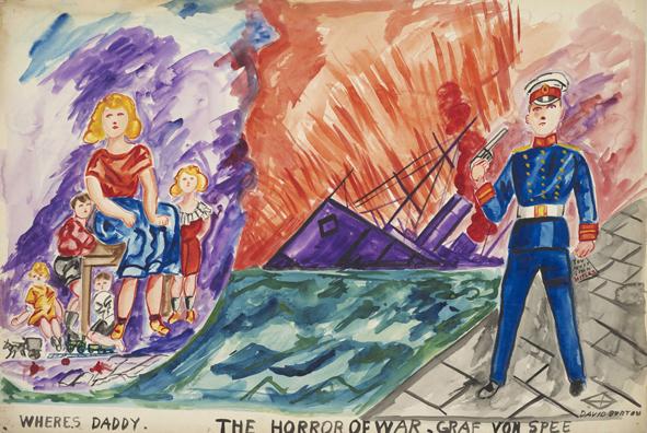 , 'Where's Daddy/ The Horror of War/ Graf von Spee,' ca. 1939, Rob Tufnell