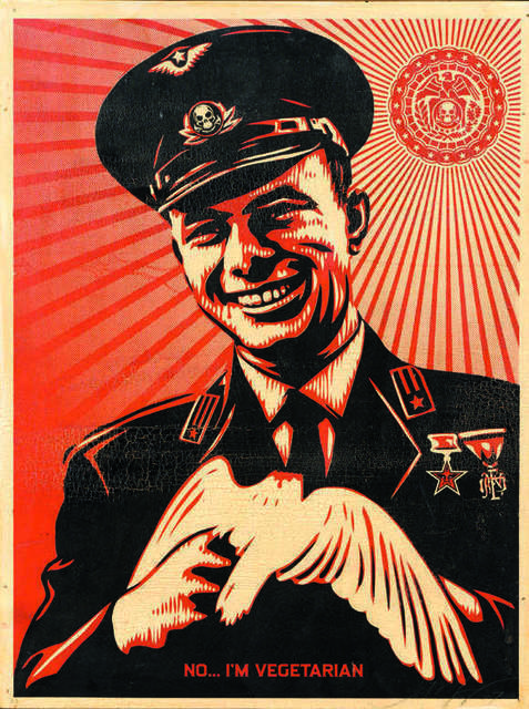 Shepard Fairey, 'No … I'm vegetarian - AP', DIGARD AUCTION