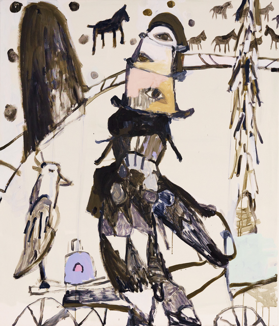 Mie Olise Kjærgaard, 'The 3 Eyed Woman with Her Bag and a Bird', 2018, Hans Alf Gallery