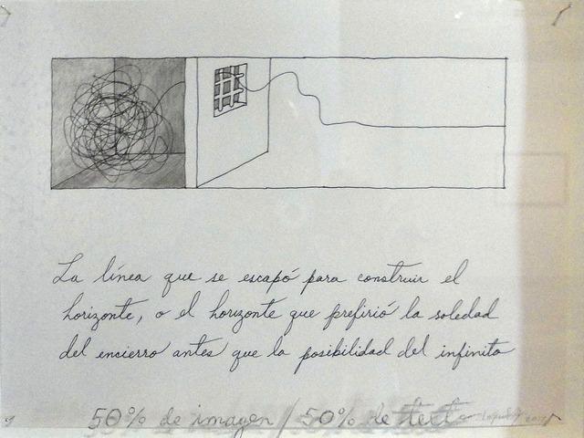 , '50 % text, 50 % image,' 2012, Habana