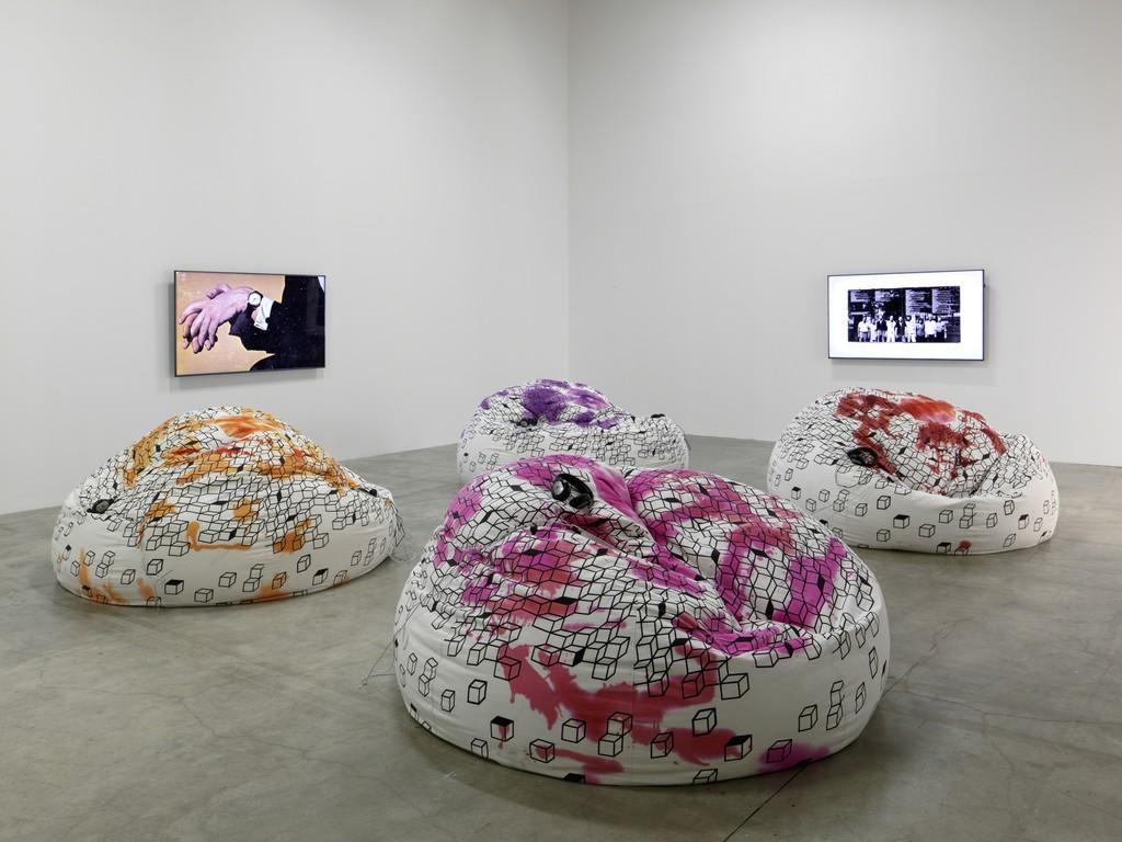 "Installation view of ""Ugo Rondinone: I Love John Giorno"" at Palais de Tokyo, Paris (2015-2016) Photo: André Morin"