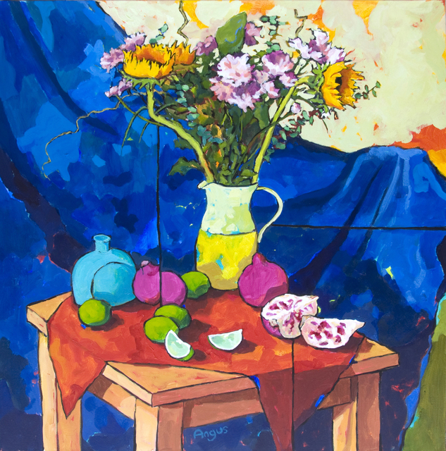 , 'Sunflowers with Limes and Pomegranate,' 2015, Ventana Fine Art