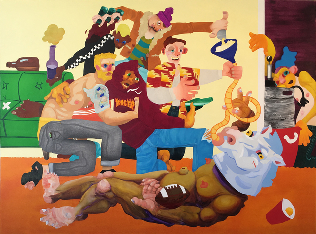 Canyon Castator, 'Frat House', 2017, Painting, Oil in canvas, Postmasters Gallery