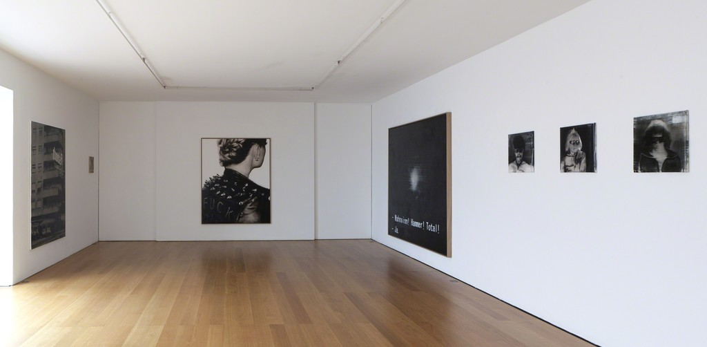 Installation view Florian Süssmayr at Galerie Rüdiger Schöttle, 2014.