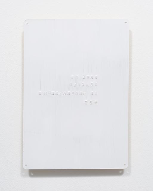, 'An Understanding,' 2017, moniquemeloche