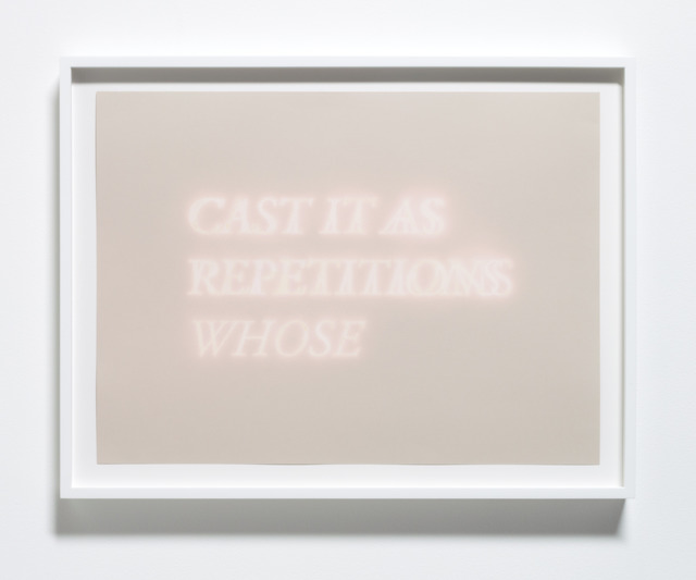 , 'Cast It As Repetitions Whose,' 2013, Meliksetian | Briggs