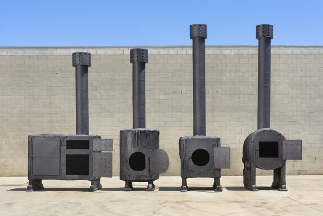 , 'BLACK STOVES,' 2014, Gagosian