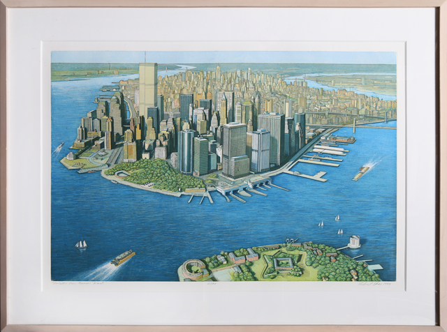 Richard Haas, 'Manhattan View from Governor's Island, color', 1999, RoGallery