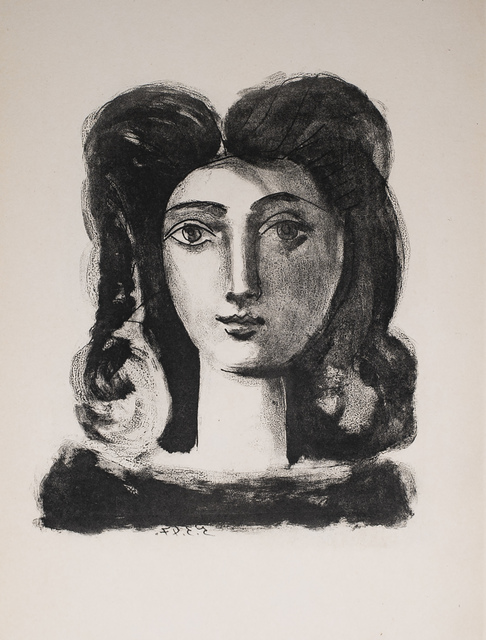 Pablo Picasso, 'Tete De Jeune Fille (Youth's Head), 1949 Limited edition Lithograph by Pablo Picasso', 1949, Reproduction, Lithograph, White Cross