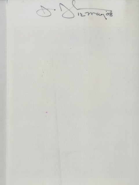 Jasper Johns, 'Card depicting portrait of the artist by Phong Bui (hand signed and dated by Jasper Johns)', 2008, Ephemera or Merchandise, Card depicting a portrait of Jasper Johns by Phong Bui (Hand signed by Jasper Johns), Alpha 137 Gallery