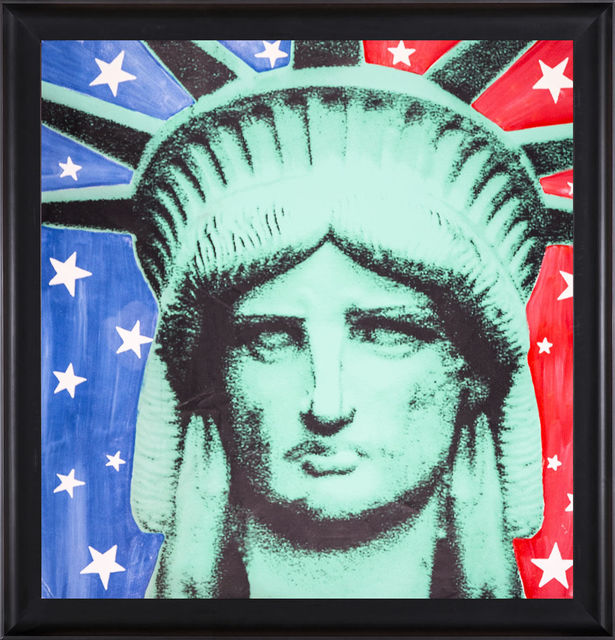 Steve Kaufman, 'Massive Lady LIberty Warhol Famous Assistant Oil Painting Canvas', 1996, Modern Artifact