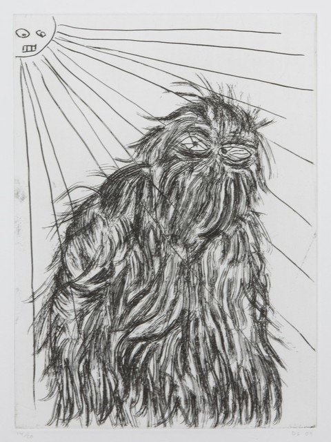 David Shrigley, 'Untitled [Hairy Monster]', 2009, Julien's Auctions