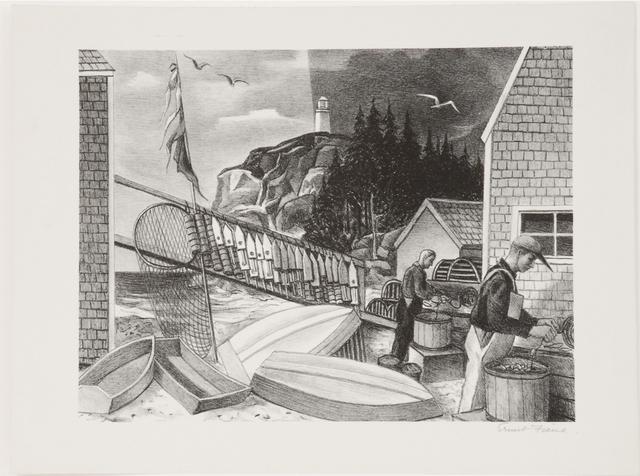, 'Fishermen Monhegan,' ca.1930, Sragow Gallery