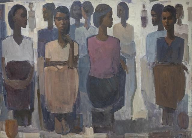 , 'Pillars of Life: Market Day II,' 2019, Addis Fine Art