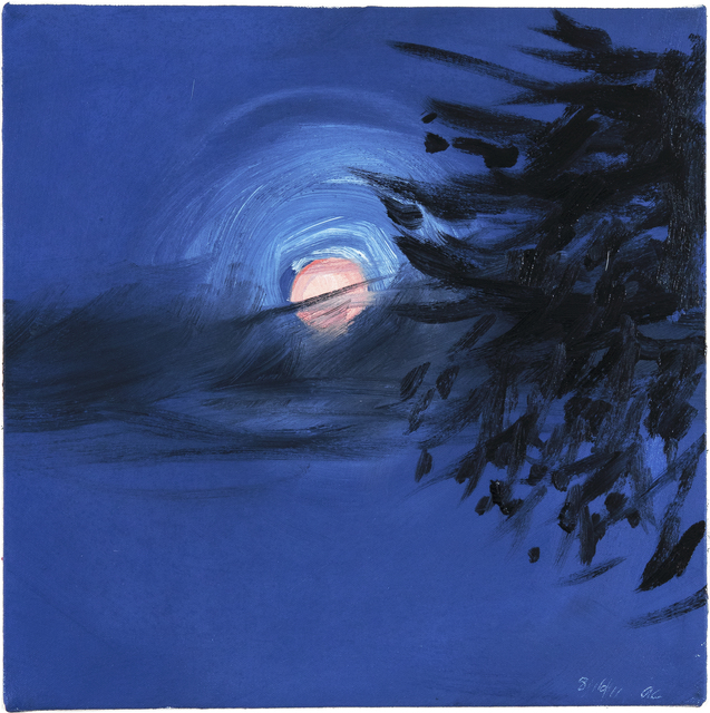 Ann Craven, 'Moon (Peach Moon over Maine, 8-16-11, 10PM), 2011', 2011, Painting, Oil on canvas, Center for Maine Contemporary Art (CMCA) Benefit Auction