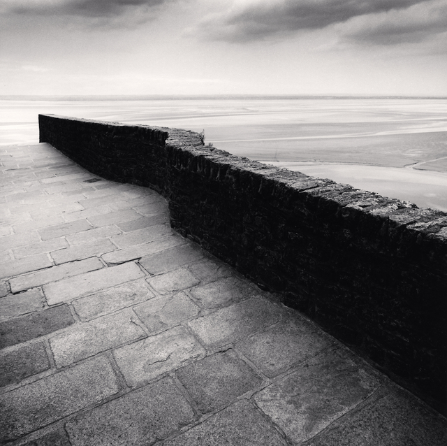 Michael Kenna, 'Winding Wall - Mont St. Michel, France. ', 2004, Photography, Sepia toned silver gelatin print, Galeria de Babel