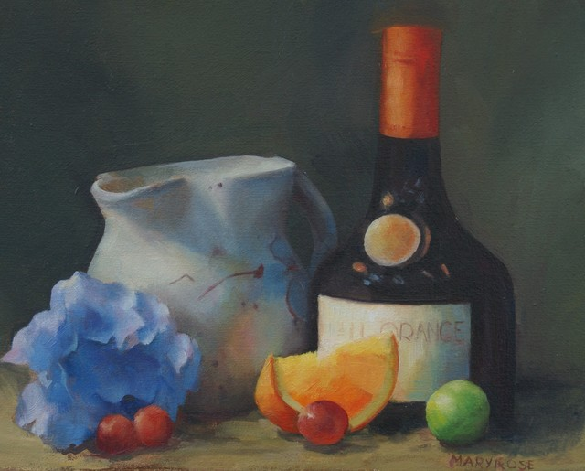 , 'Arrangement with Blue and Orange,' ca. 2018, Copley Society of Art