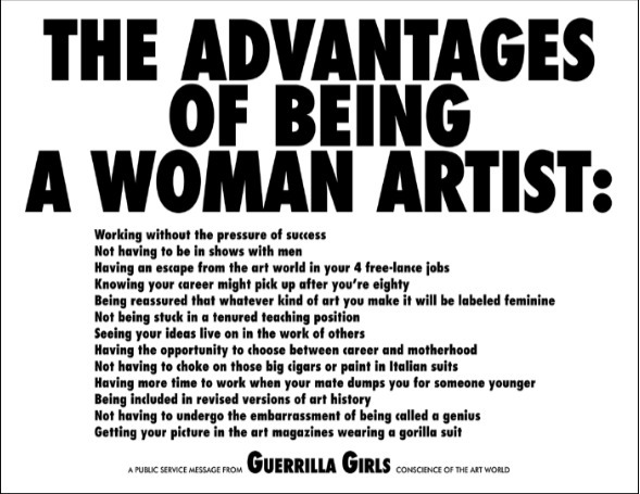 , 'The Advantages of Being a Woman Artist,' 1988, mfc - michèle didier