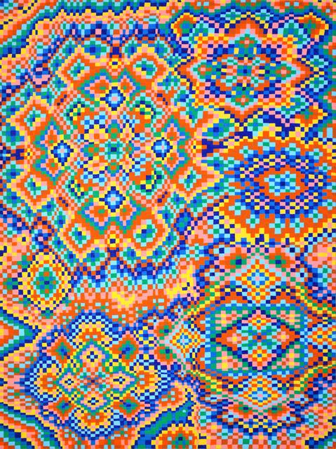 , 'Orange/Blue Grid #3,' 2017, Asya Geisberg Gallery