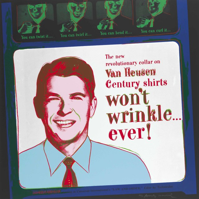 Andy Warhol, 'Van Heusen (Ronald Reagan), from Ads', 1985, Christie's